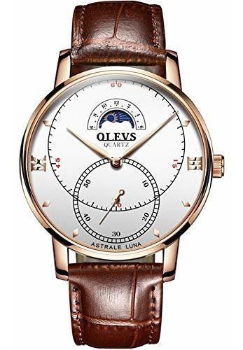 Olevs Reloj De Los Hombres Fase De La Luna 30 M Impermeable
