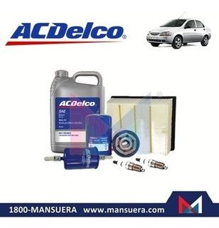 Kit Aceite Filtros Bujias Acdelco Chevrolet Aveo 1.5 Family