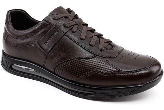 Sapato Democrata Air 360 202101 Couro Café