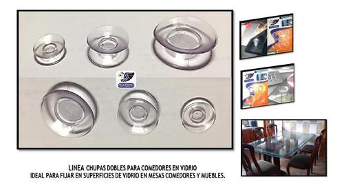 Chupa Doble Paqx100un Transp 2.5cm Remov/anti Vidrio/comedor