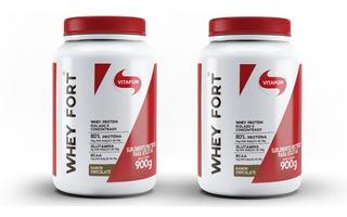 Kit 2x Whey Fort Vitafor - 900g