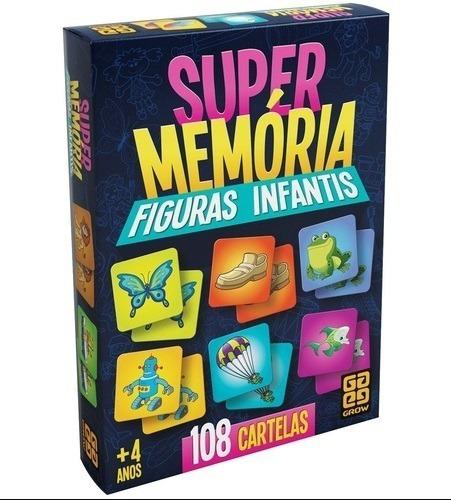 Jogo Supermemória Figuras Infantis - Grow