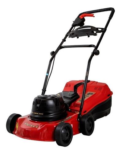 Cortadora de pasto eléctrica Petri 3005001 con bolsa recolectora 0.5 hp roja y negra 220V