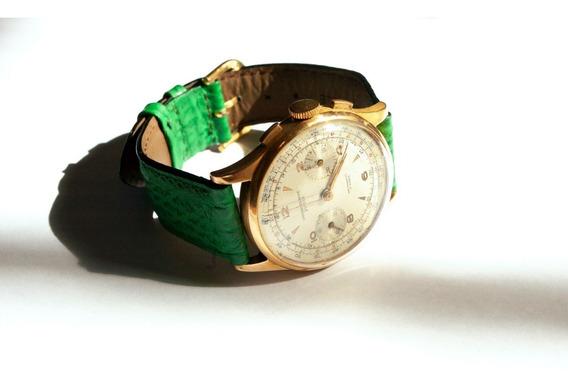 Reloj De Pulsera Chronographe Suisse 18k Ca. 1950