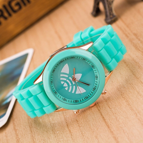Relógio adidas Feminino Diversascores Colorido Verde Piscina