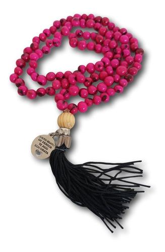 Japamala 108 Contas Semente De Açai Pink Ref. 0437