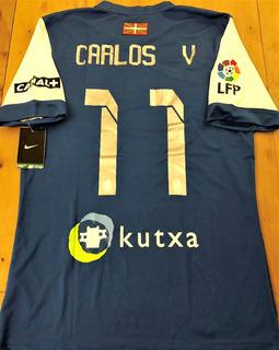 Camisa Da Real Sociedad 2013/14 Carlos V. #11 Completa