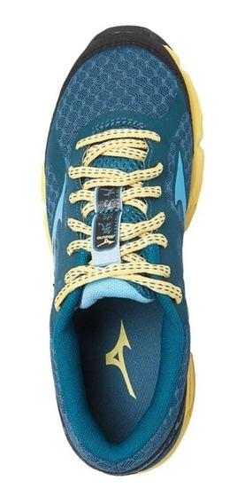 Tenis Mizuno Wave Kien 4131744 - Azul E Amarelo