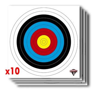 Blanco Arqueria Fita Color 65cm X 65cm - X10 - Arco Y Flecha