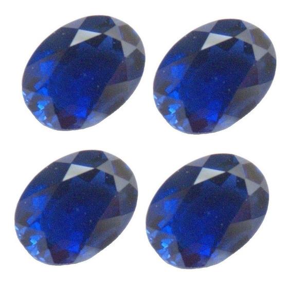 Safira Azul Oval 8x6 Mm Safira 3031cpb
