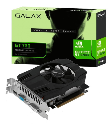 Placa De Video Galax Gt 730 4gb Ddr3 64bit Dvi Hdmi Vga