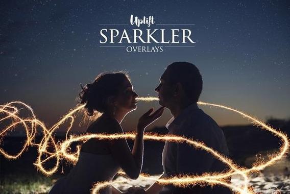 160 Sparkler Overlays Pack (sobreposições De Fotografias)