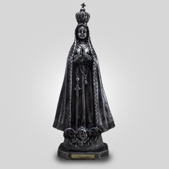 Imagem De Nossa Senhora De Aparecida Prata (39cm) De Borrach