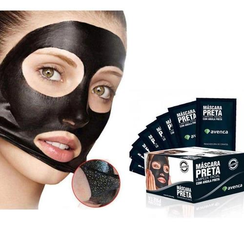 Imagem 1 de 4 de Avenca Máscara Preta Removedora De Cravos 8g Caixa C/ 50unid