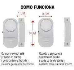 Sensor Magnético Sem Fio Alarme Residencial Janela Porta