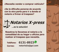 Notarios X-press... Desde La Comodidad De Su Hogar U Oficina