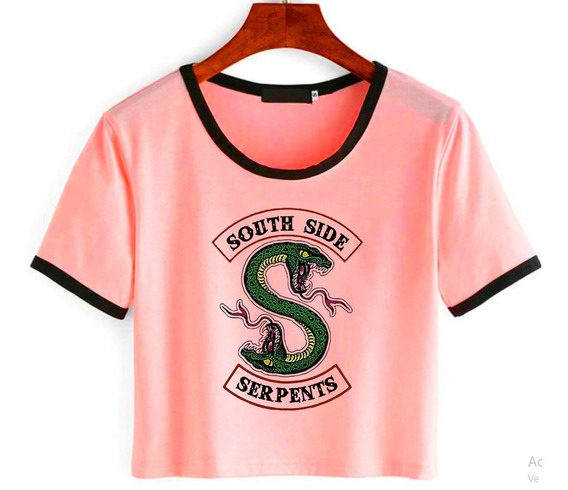 Remera Corta Riverdale Southside Serpents Varios Colores