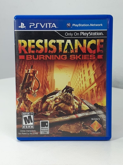 Resistance Burning Skies Ps Vita Original Americano Usado