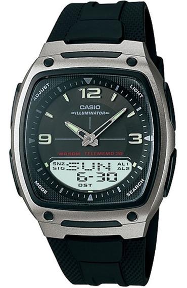Relógio Masculino Casio Esportivo Mundial Aw-81-1a1vdf + Nf