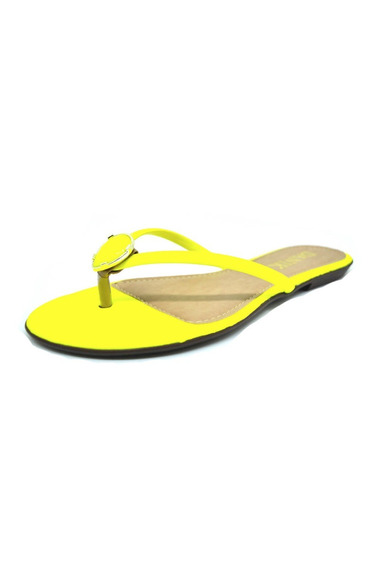 Rasteirinhas Femininas Chinelo Amarelo Neon Dani K