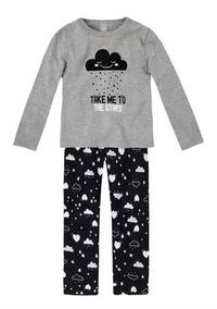 ebe1b7bc59b4dd Pijama Infantil Menina Em Moletom Peluciado Estampado Kids