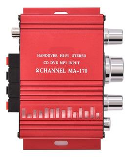 Mini 12 V 2 Canales Hifi Estéreo Bajo Audio Amplificador De