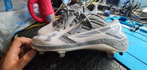 Tenis Baseball Beisbol Tachones Under Armor 32cm 14 Us Nvos