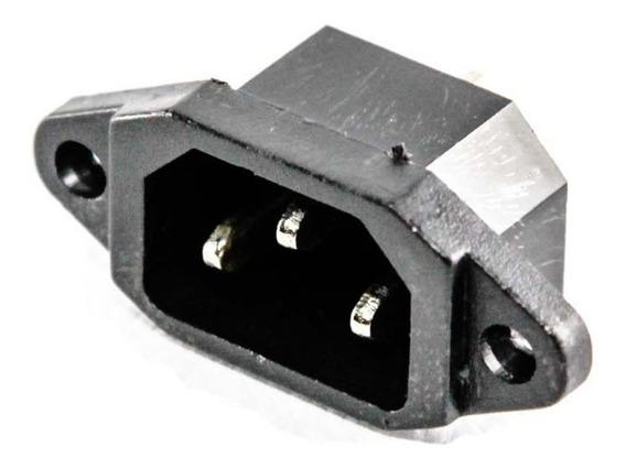 3 Jack Interlock Macho 3 Contactos Chasis Pc Monitor 10a Hte