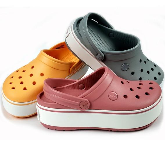 Crocs Crocband Plataforma Clog Originales Varios Colores