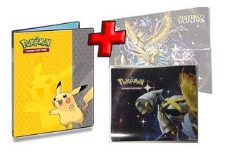 Fichário Álbum Pasta Pokemon Pikachu 10 Folhas + Poster