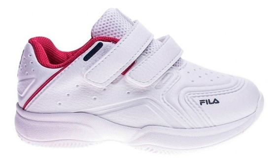 Zapatillas Fila Lugano 6.0 Velcro Bla/fuc De Niñas/bebes