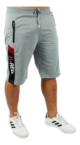 Kit Com 5 Bermuda Masculina Shorts Moletom Academia Fitness