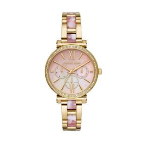 Relógio Michael Kors Feminino Ref: Mk4344/1dn Multifunção