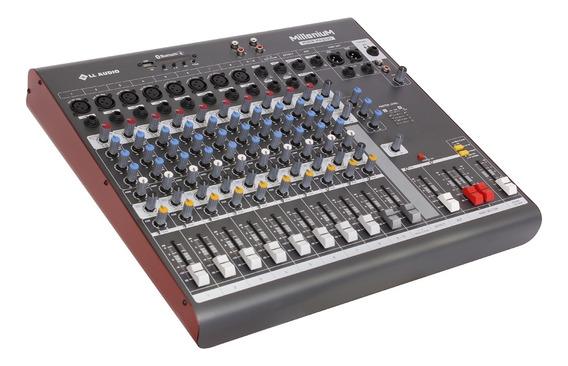 Mesa De Som Ll Audio Millenium Mx1202d C/ 12 Canais