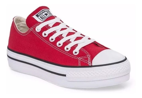 Nuevas Zapatillas Converse Chuck Taylor Plataforma Rojas