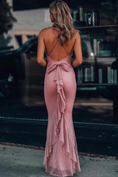 Vestido Largo Lindo De Noche
