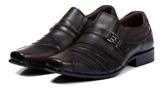 Sapato Social Confort Luxo Masculino 100% Couro