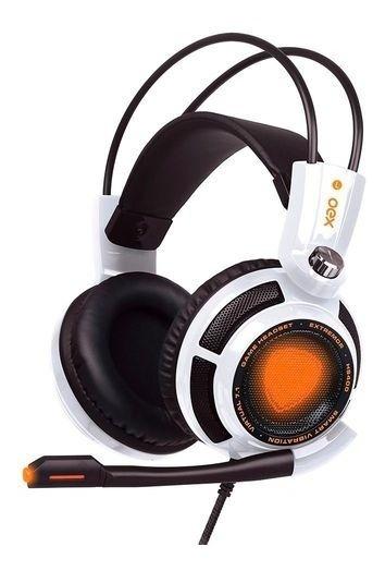 Headset Gamer Extremor Hs400 Usb Branco Oex