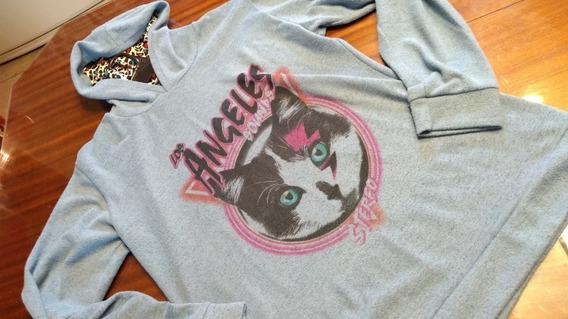 Sweter Con Capucha Lanilla Cats T L