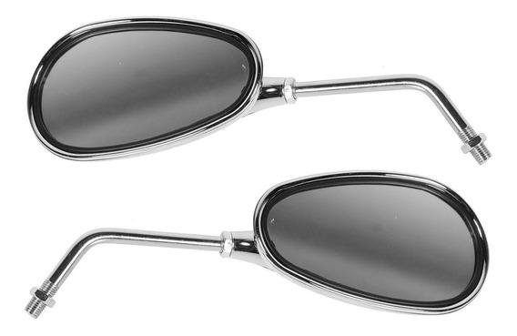 Par Espelho Retrovisor Esportivo Cromado Ee-103h Pro Tork