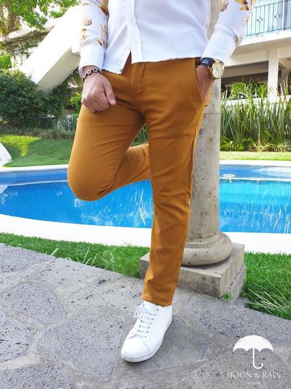Pantalón Recto Amarillo Moon & Rain Tiendas Platino