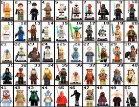 Bonecos De Montar Kit Com 26 Star Wars Tipo Lego Darth
