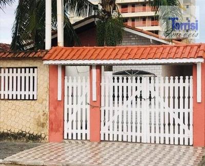 Casa Em Praia Grande, Na Quadra Do Mar, 2 Dormitórios, 02 Vagas De Garagem, Vila Caiçara - Ca0124