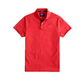 Camisa Polo Hollister Strecth Pique Icon Original Imp. Eua