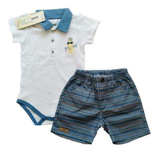 Roupa De Verão Para Bebê Masculino 2 Peças