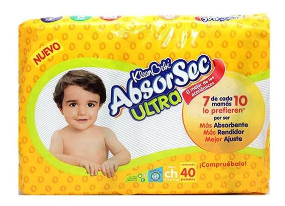 Kleenbebé Absorsec Pañal Chico Paquete De 40 Pz