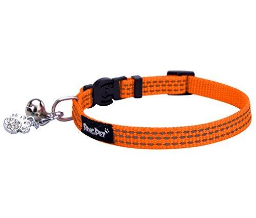 Imagen 1 de 6 de Collar Bingpet De Seguridad De Nylon Reflectante Gato Breaka