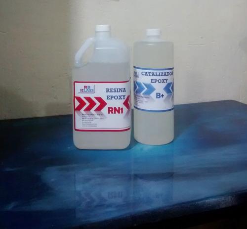 Imagen 1 de 6 de Epoxy Transparente 6kg Rb+, Madera, Pisos, Resina Epoxica