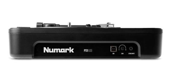 Toca Discos Lp Vinil Numark Pt01 Turntable Usb Portátil