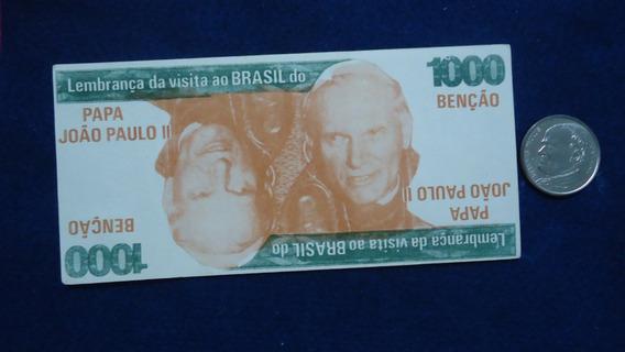 Brasil: Cédula/moeda Comemorativa: Papa João Paulo Ii -1980.